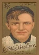 1911 T205 Gold Border #124 Christy Mathewson front image