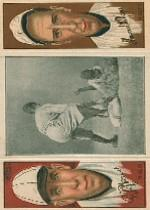 1912 Hassan Triple Folders T202 #11 Bush Just Misses Austin/Pat Moran/Sherry Magee front image