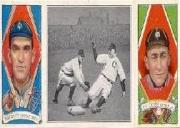 1912 Hassan Triple Folders T202 #39 Collins Easily Safe/Eddie Collins/Frank Baker front image