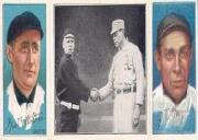 1912 Hassan Triple Folders T202 #87 Just Before the Battle/Red Murray/Fred Snodgrass