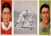 1912 Hassan Triple Folders T202 #89 Lobert Almost Caught/Al Bridwell/Johnny Kling