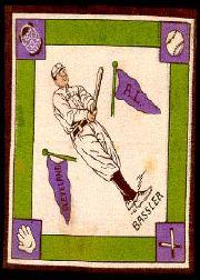 1914 B18 Blankets #6A Johnny Bassler/Purple bases
