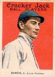1915 Cracker Jack #25 Michael Simon