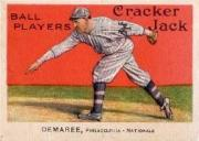1915 Cracker Jack #92 Al Demaree Phila. NL