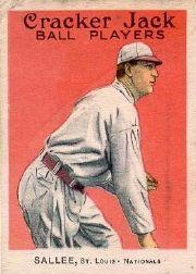 1915 Cracker Jack #123 Slim Sallee