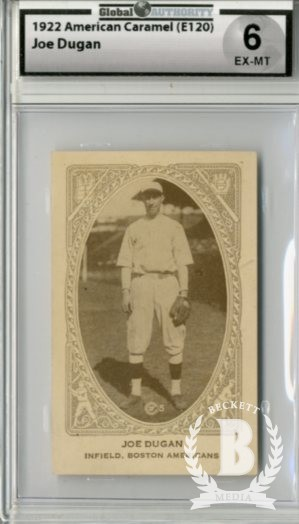 1922 E120 American Caramel Series of 240 #3 Joe Dugan