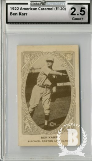 1922 E120 American Caramel Series of 240 #5 Bennie Karr