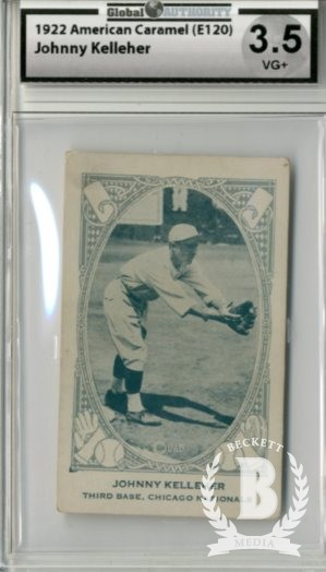 1922 E120 American Caramel Series of 240 #161 Johnny Kelleher