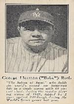 1928 Ruth Fro Joy #1 Babe Ruth/George Herman Babe Ruth