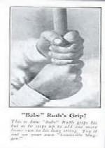 1928 Ruth Fro Joy #5 Babe Ruth/Babe Ruth's Grip
