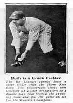 1928 Ruth Fro Joy #6 Babe Ruth/Ruth is a Crack Fielder