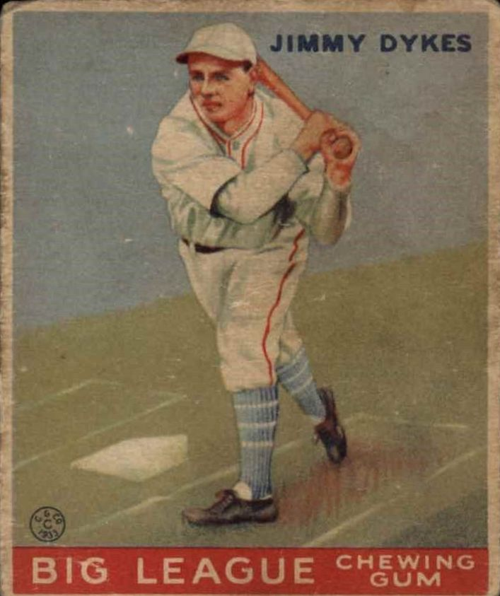 1933 Goudey #6 Jimmy Dykes RC