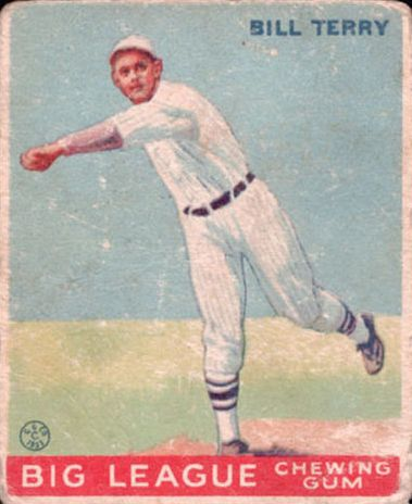 1933 Goudey #20 Bill Terry THROW RC