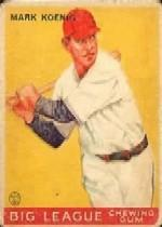 1933 Goudey #39 Mark Koenig RC