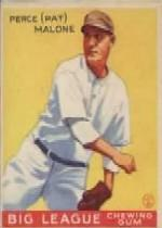 1933 Goudey #55 Pat Malone RC