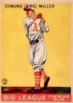 1933 Goudey #59 Bing Miller RC