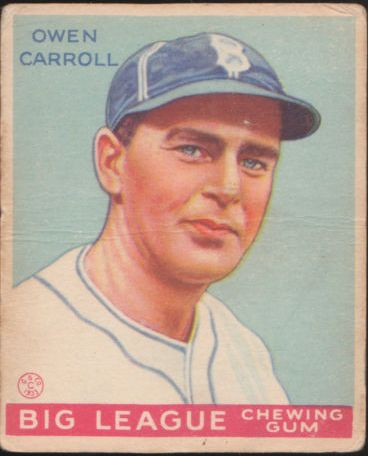 1933 Goudey #72 Owen Carroll RC