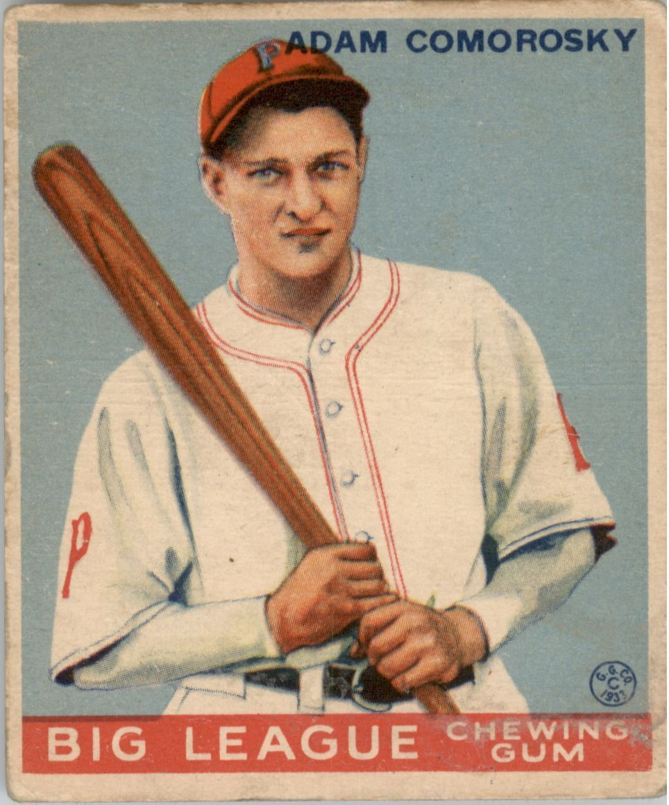 1933 Goudey #77 Adam Comorosky RC