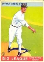 1933 Goudey #79 Red Faber RC