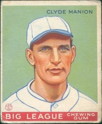1933 Goudey #80 Clyde Manion RC