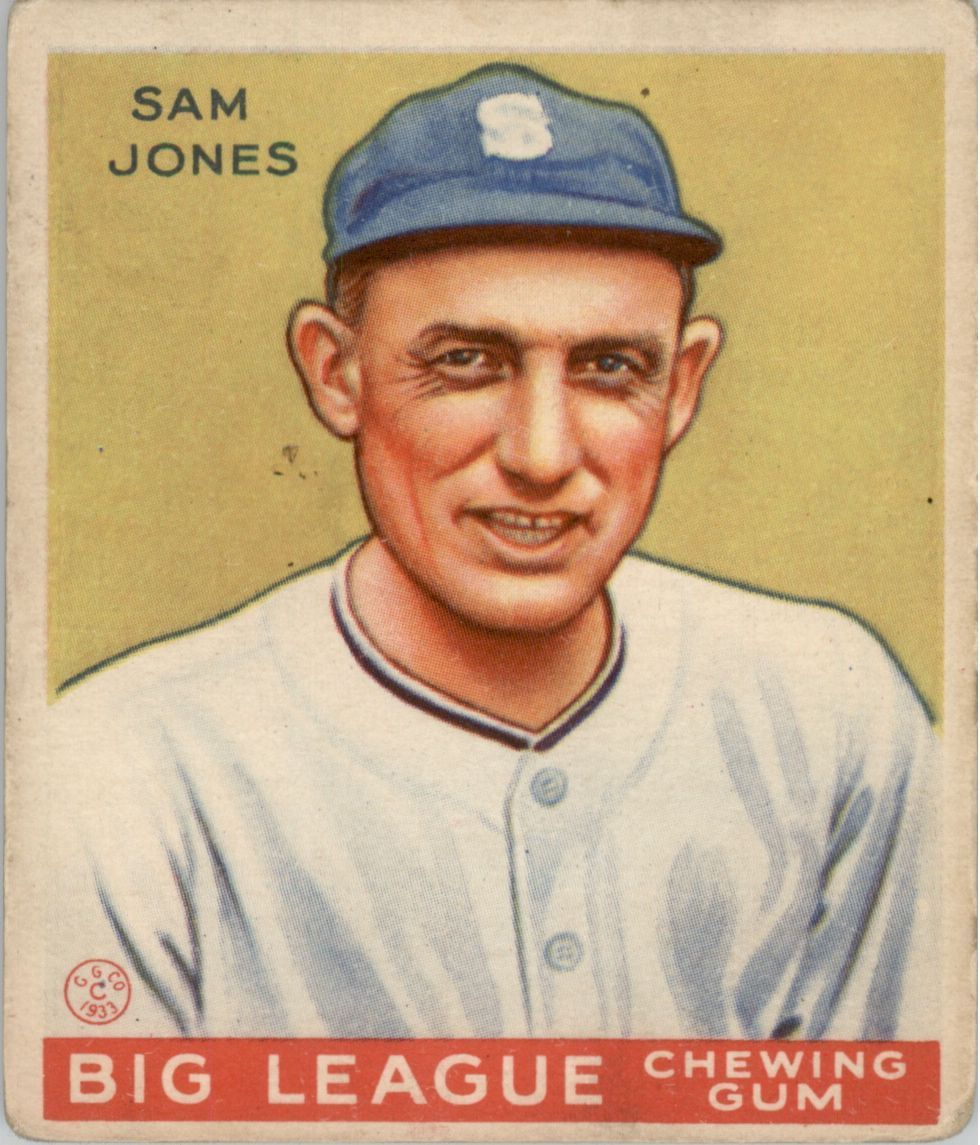 1933 Goudey #81 Sam Jones RC