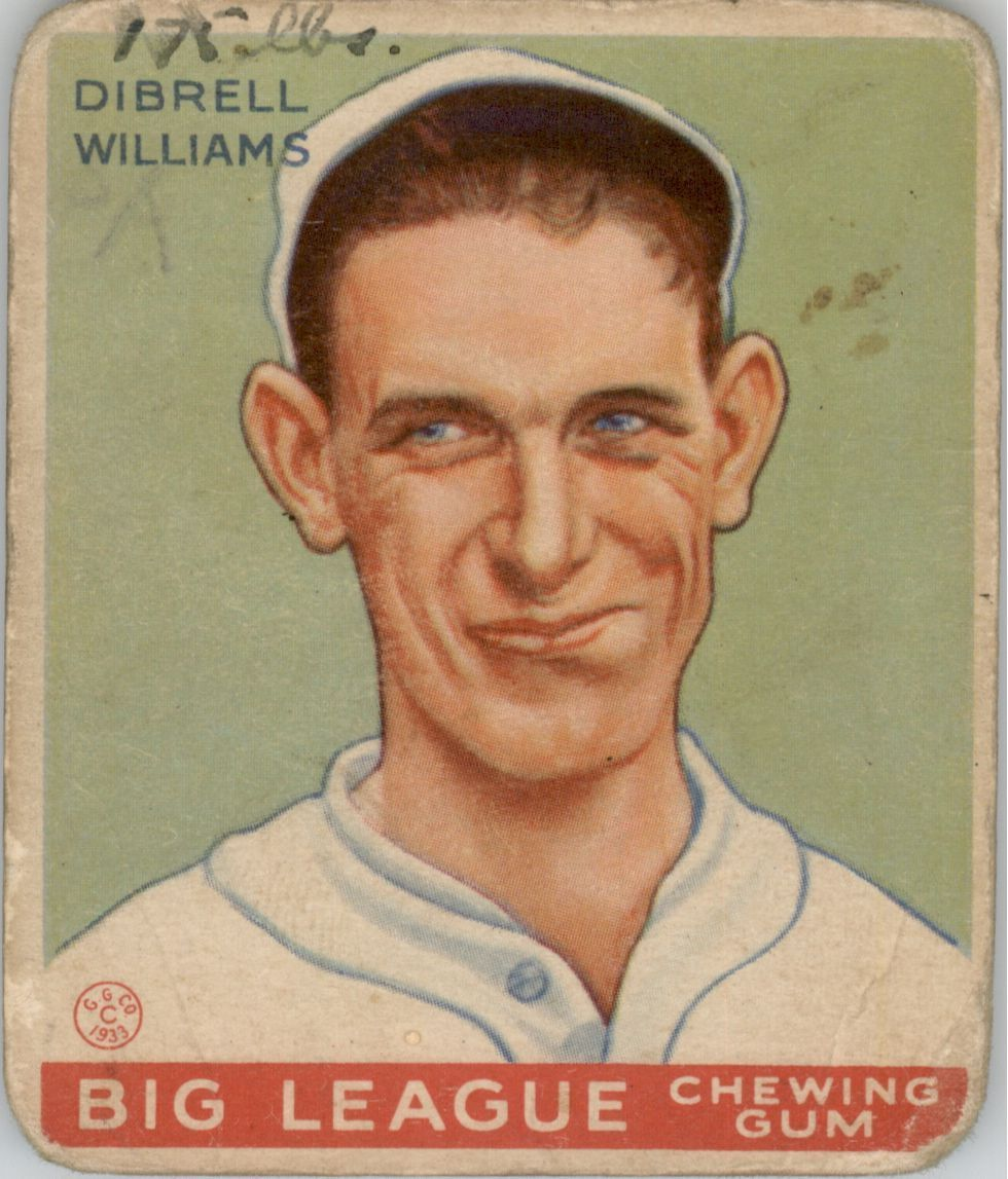 1933 Goudey #82 Dib Williams RC