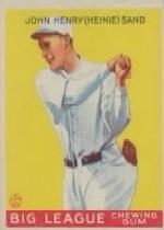 1933 Goudey #85 Heinie Sand RC