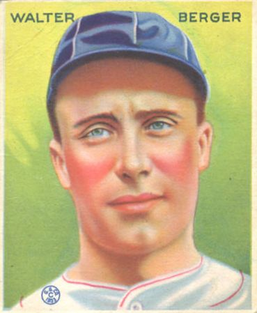 1933 Goudey #98 Wally Berger RC