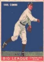 1933 Goudey #103 Earle Combs RC