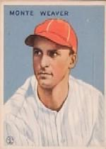 1933 Goudey #111 Monte Weaver RC