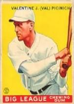 1933 Goudey #118 Val Picinich RC
