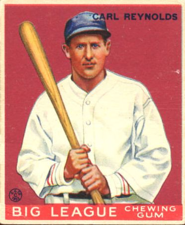 1933 Goudey #120 Carl Reynolds RC