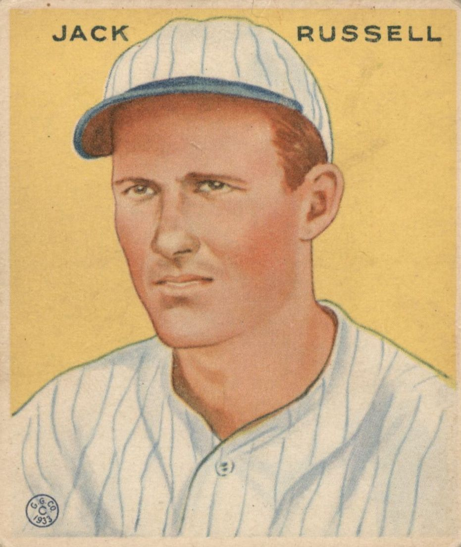 1933 Goudey #123 Jack Russell RC