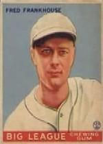 1933 Goudey #131 Fred Frankhouse RC