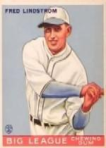 1933 Goudey #133 Fred Lindstrom RC