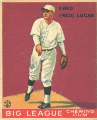1933 Goudey #137 Red Lucas RC
