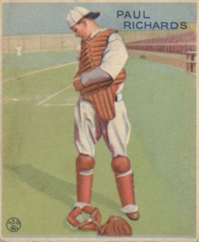 1933 Goudey #142 Paul Richards RC