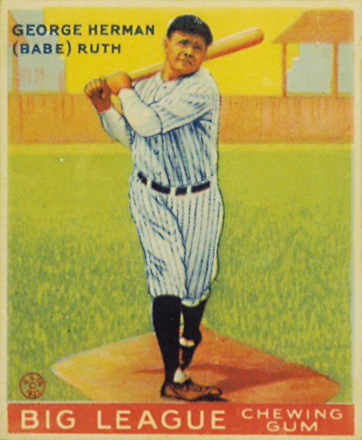 1933 Goudey #144 Babe Ruth Bat DP RC