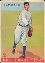 1933 Goudey #157 Sam Byrd RC