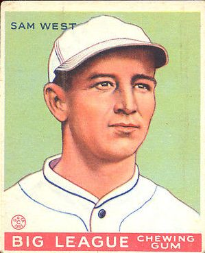 1933 Goudey #166 Sam West RC