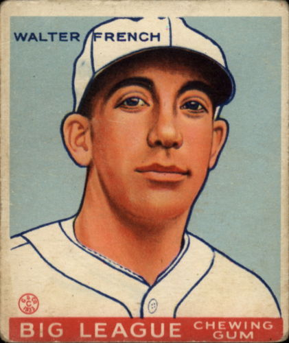 1933 Goudey #177 Walter French RC