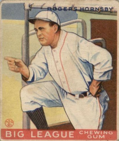 1933 Goudey #188 Rogers Hornsby RC