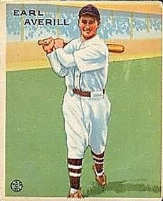 1933 Goudey #194 Earl Averill RC