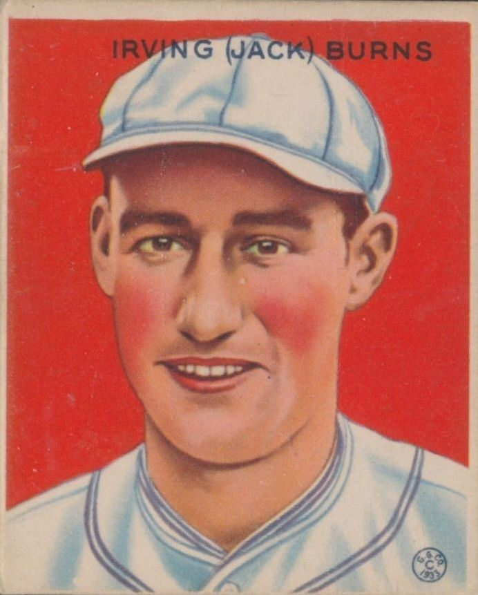 1933 Goudey #198 Jack Burns RC