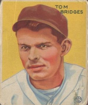 1933 Goudey #199 Tom Bridges RC