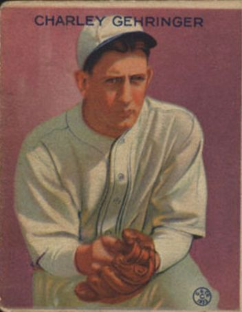 1933 Goudey #222 Charley Gehringer RC