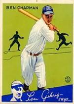 1934 Goudey #9 Ben Chapman