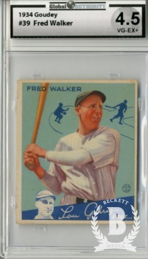 1934 Goudey #39 Fred Walker RC