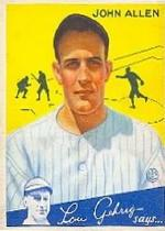 1934 Goudey #42 John Allen RC front image