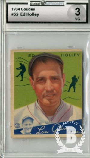 1934 Goudey #55 Ed Holley RC